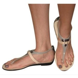 BCBGenerations jelly/leather thong sandals